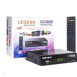 Цифровой эфирный приёмник LEGEND RST-B1302HD DVB-T/T2/C для кабельного и эфирного телевидения без оплаты