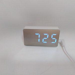 Часы электронные настольные цифровые OS-001 MINI (синие) купить в минске