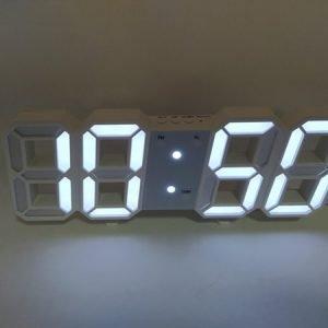 Цифровые стетодиодные часы 3d(белые) купить в минске