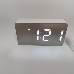 Часы электронные настольные цифровые OS-001 MINI(белые) купить в минске