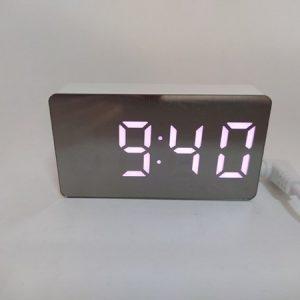 Настольные электронные светодиодные часы OS-001 MINI(розовые) купить в минске